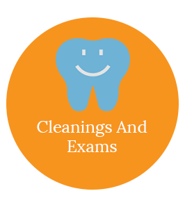 dental cleanings and exams